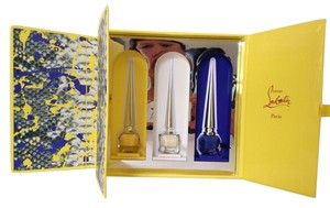 Christian Louboutin Python Vulcano Nail Colour Coffret 3 Limited Edition Colors White Blue Yellow