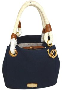 Michael Kors Medium Nautical Satchel Tote in Navy