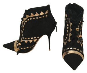 Sophia Webster Style Unique Black/Gold Boots