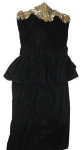 Bonwit Teller New Year's Eve Ready Velvet Affair Evening Strapless Dress