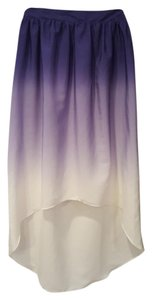 Mossimo Supply Co. High Low Mullet Fade Tie Dye Skirt Blue