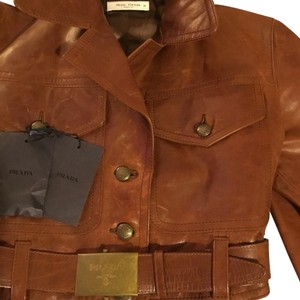 Prada Brown Leather Jacket