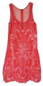 Free People short dress Coral Cotton Knit on Tradesy