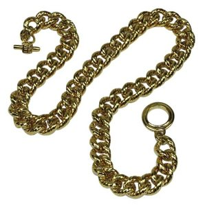 Givenchy Heavy Curb Link Chain Vintage Toggle Clasp Necklace