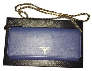 Prada Clutch 1m1437 Saffiano Leather Cross Body Bag