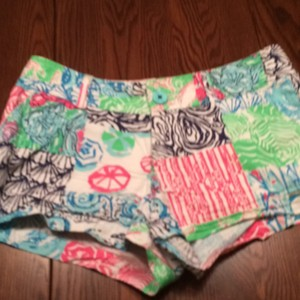 Lilly Pulitzer Mini/Short Shorts White, navy, pink, green