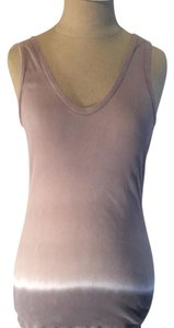 James Perse Top Tan white & grey