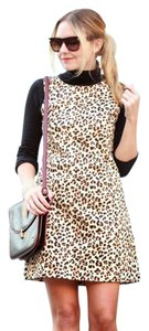 Zara Trafaluc Leopard Animal Print Shift Dress