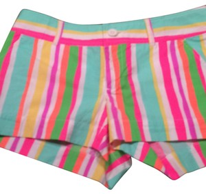 Lilly Pulitzer Mini/Short Shorts White. Mint, pink, orange, yellow