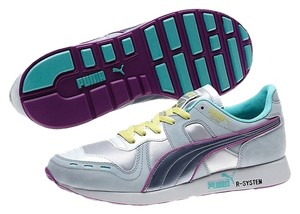 Puma Silver, Teal, Purple, Yellow, White Athletic