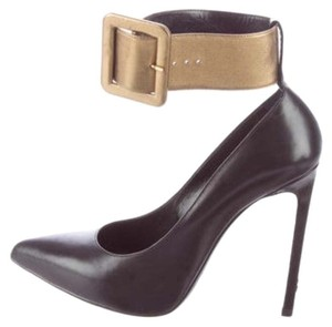 Saint Laurent Black with gold cuff Pumps
