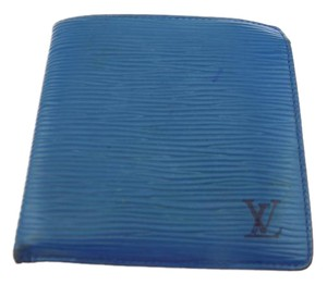 Louis Vuitton Blue Epi Marco Bifold Wallet-813