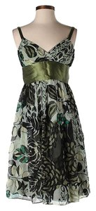 Catherine Malandrino Silk Floral Empire Waist Dress