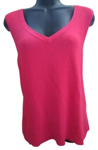 Talbots Coral Stretchy Summer Top Pink