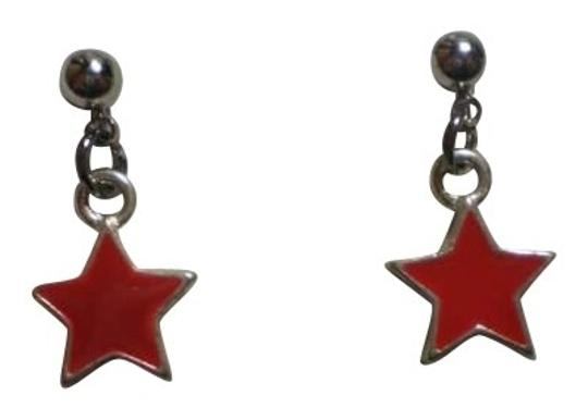 Handmade New red stars earrings