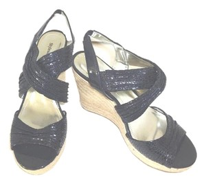 Style & Co Sandals New Navy Platforms