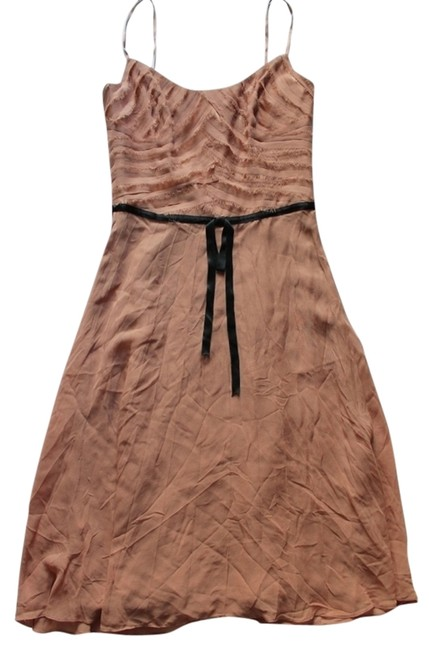 Preload https://item5.tradesy.com/images/pinkpeach-peachpink-structured-top-with-black-satin-bow-knee-length-cocktail-dress-size-4-s-1619109-0-0.jpg?width=400&height=650