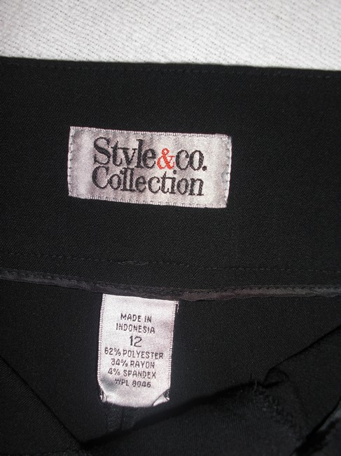 Style & Co Stretchy Wide Leg Pants Black