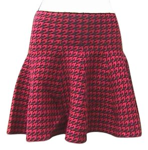 Red & Black Mini Mini Skirt