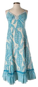 Blue Maxi Dress by Tracy Reese Silk Paisley Embellished Maxi