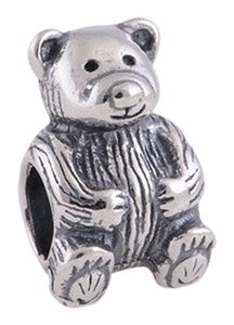 unknown nwot sterling silver 925 bear diy bracelet fit charm bead gift new mommy daddy baby new born teddy animal bears