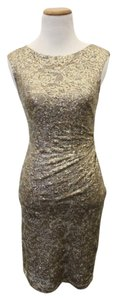 David Meister Sequin Cutout Lace Dress