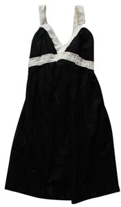 BCBGMAXAZRIA Bcbg Max Azria Black Cotton White Trim Dress