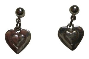 Handmade New Silvertone hearts earrings