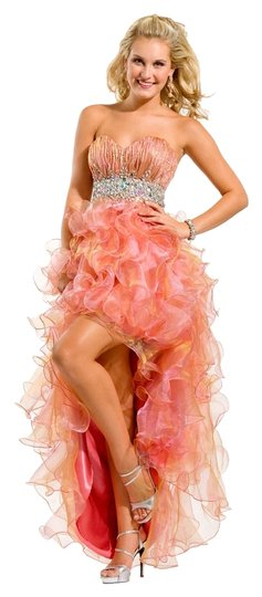 hot sale 2017 Party Time Formals Pink/ Champagne Auth New Prom 6053 Size 8 Dress - 48% Off Retail
