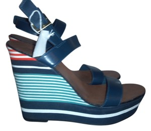 Montego Bay Club Platform Blue, multi Sandals