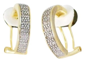 0.65 TCW Natural Diamond Huggie Earrings In 18K Yellow Gold