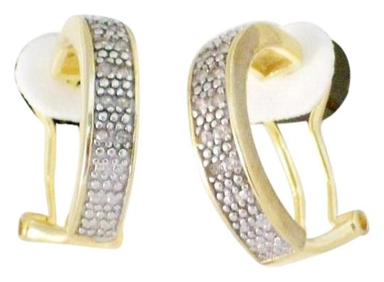 Other 0.65 TCW Natural Diamond Huggie Earrings In 18K Yellow Gold