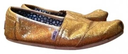 TOMS Womens Summer Fashion Cute glitter gold Flats