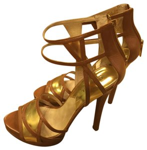 MICHAEL Michael Kors Tan with gold Sandals
