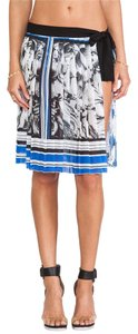Clover Canyon Marble Party Corinthian Swim Cover Up Pleated Skirt