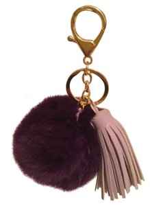 6 Colors Rabbit Fur Pom Bag Charms Key Ring Holder (Pls Pick 1 color)