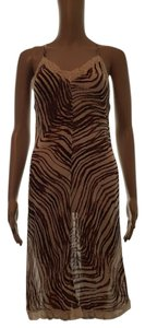 Free People Chemise Gown Lingerie Zebra Dress