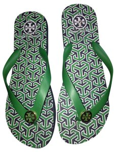 Tory Burch Green and black Sandals