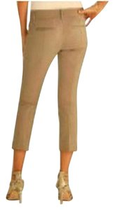 White House | Black Market Stretch Khaki Summer Cropped Capris Mocha/Khaki