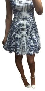 BCBGMAXAZRIA short dress Blue and white on Tradesy