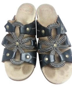 Dansko Sandals Wedges black/cream Mules