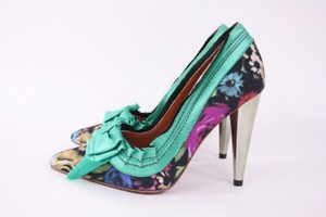 Other Lanvin Hm Bow Floral Heels Multi-Color Pumps