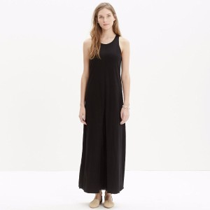 Black Maxi Dress by Madewell Cotton Split Front Scoop Neck Maxi Tank