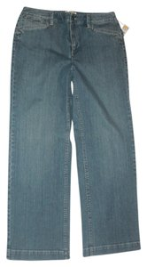 Talbots Stretchy Trouser/Wide Leg Jeans-Medium Wash