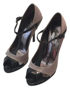 Marciano Black and Taupe Platforms