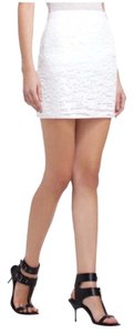 BCBGMAXAZRIA Mini Skirt White