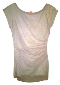 Bordeaux Lace T Shirt Pink and Gray