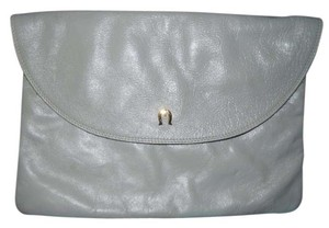 Etienne Aigner Vintage Leather grey Clutch