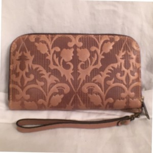 Patricia Nash Designs New Leather Brown Tan Clutch