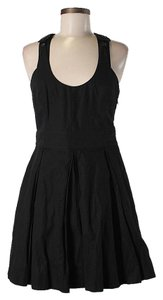 Proenza Schouler Scoop Neck Crisscross Strap Fit & Flare Dress